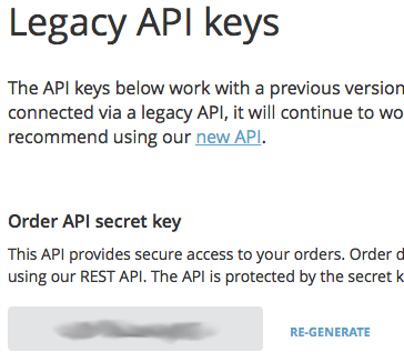 Ecwid Order API secret key