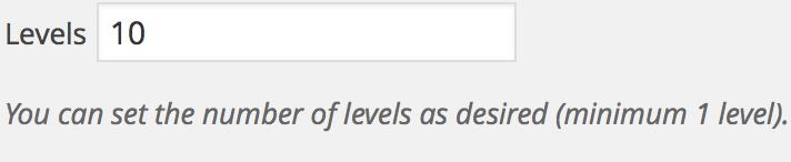 Affiliates Tiers - Levels