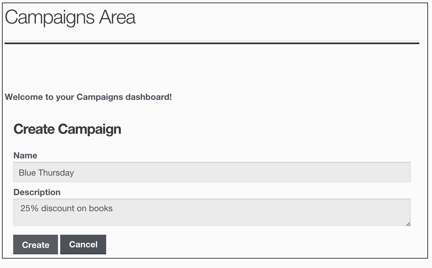 Affiliates Campaigns - Create Campaign