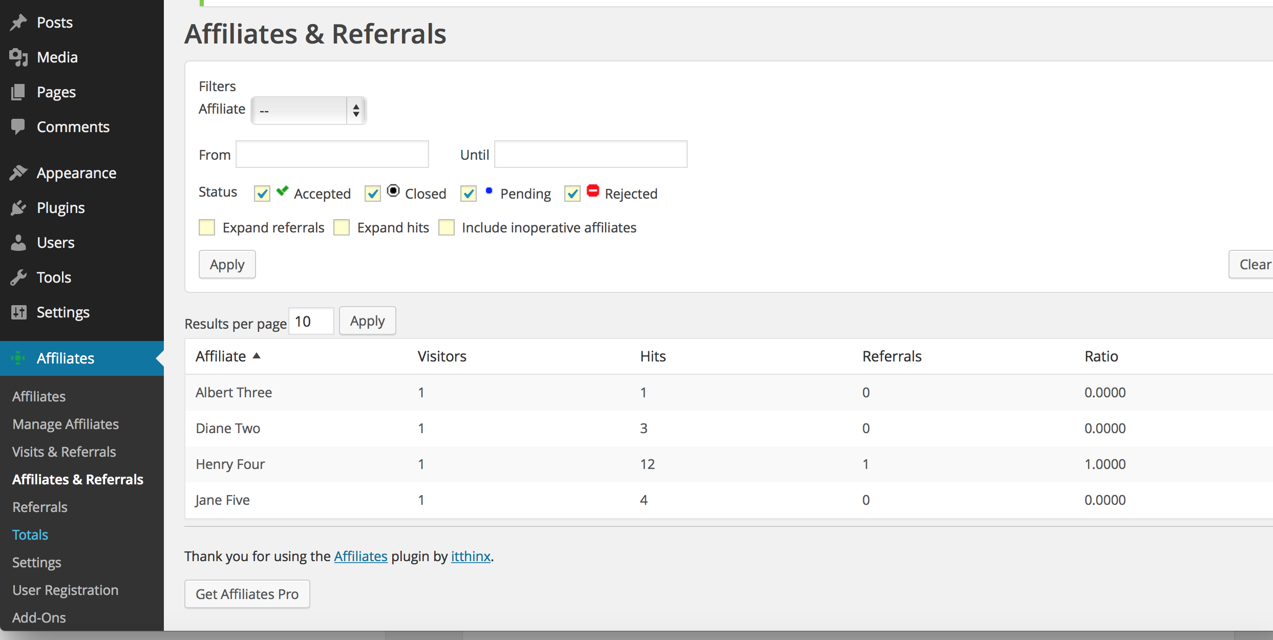 affiliates and referrals