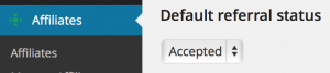 default referral status