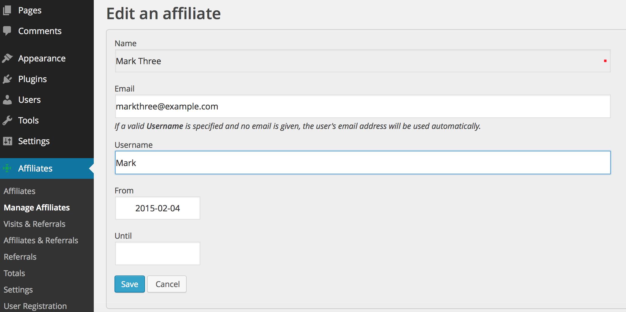 edit affiliate