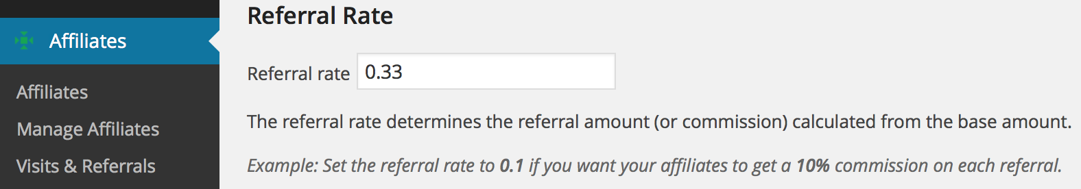 referral rate