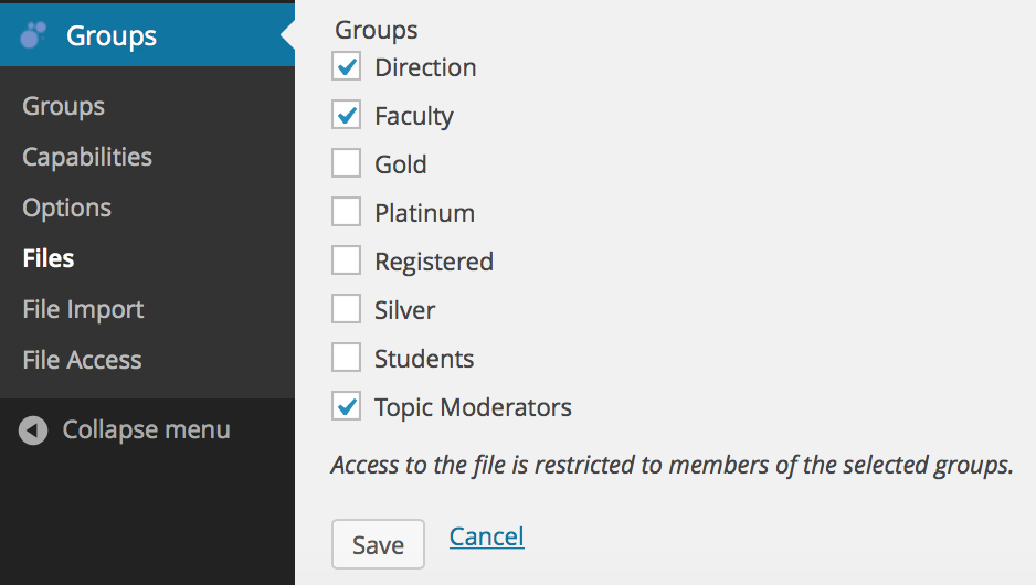 select-groups