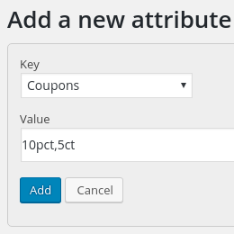 Affiliates add a coupon attribue