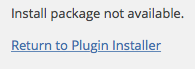 Install package not available