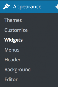 Appearance - Widgets