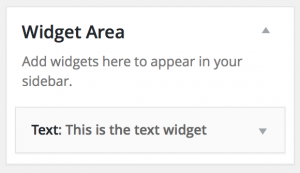 Widget in a Sidebar
