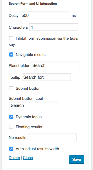 Search Form and UI Interaction