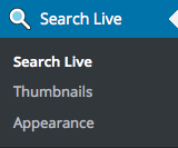 Search Live Menu