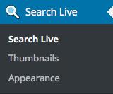 Search Live Menu