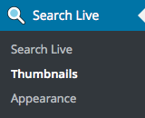 Search Live - Settings - Thumbnails