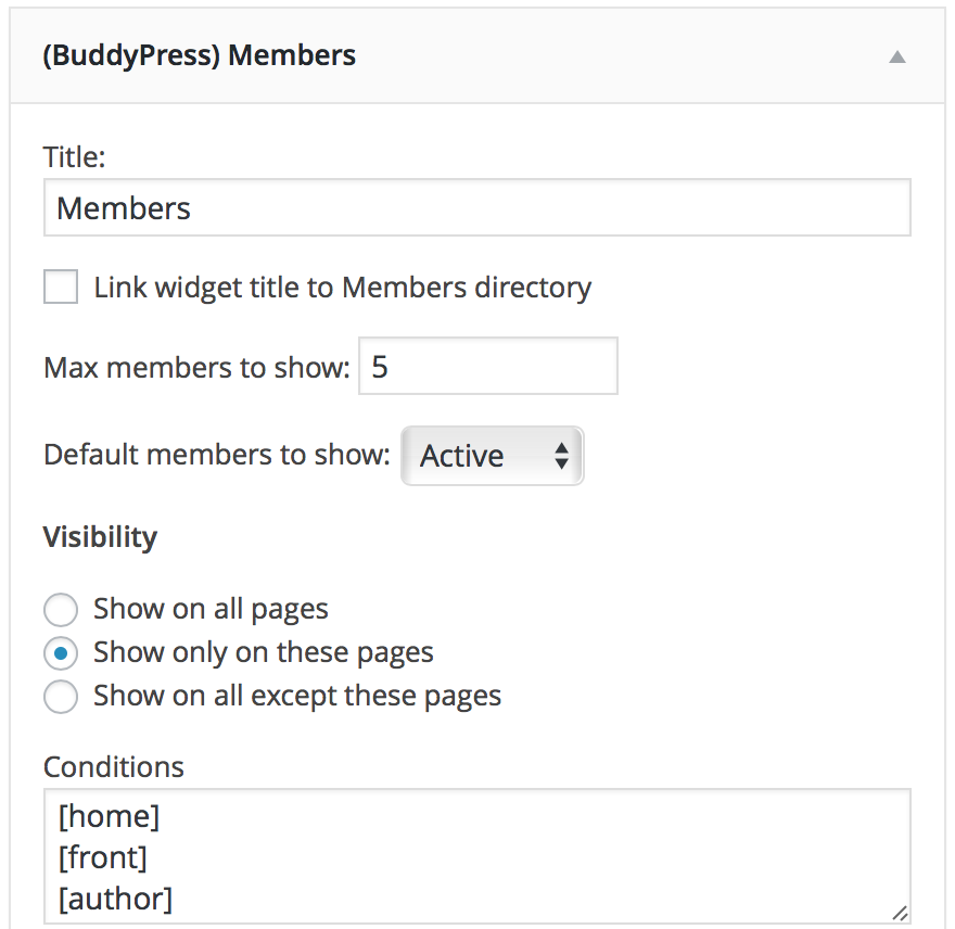 buddy press members widget