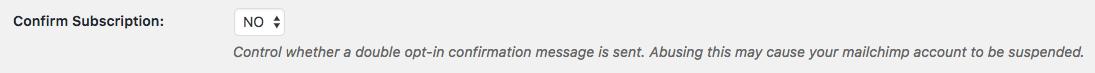 Affiliates Mailchimp - use subscription confirmation